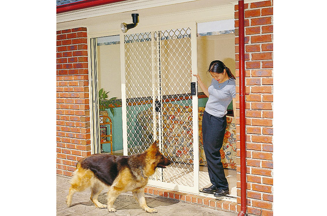 Sliding Diamond Grille Security Door - Rockingham Home Security