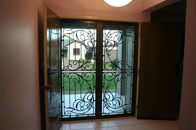 Brown Decorative Security Doors - Rockingham Home Security