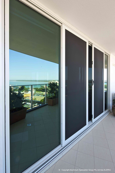 White Sliding Security Door Screens - Rockingham Home Security